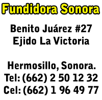 Direccion footer - Fundidora Sonora