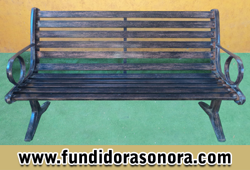 Fundidora Sonora – Banca con Descansa Brazos Circular