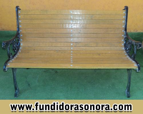 Fundidora Sonora – Banca Rectangular con Madera