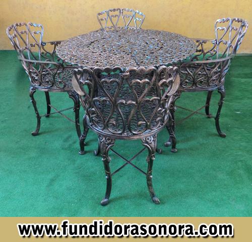 Fundidora Sonora –  Mesa Clásica D96 con Silla Clásica