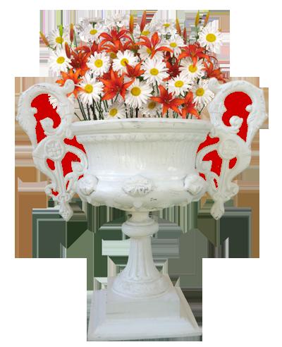 Macetero gran victoria chico con flores