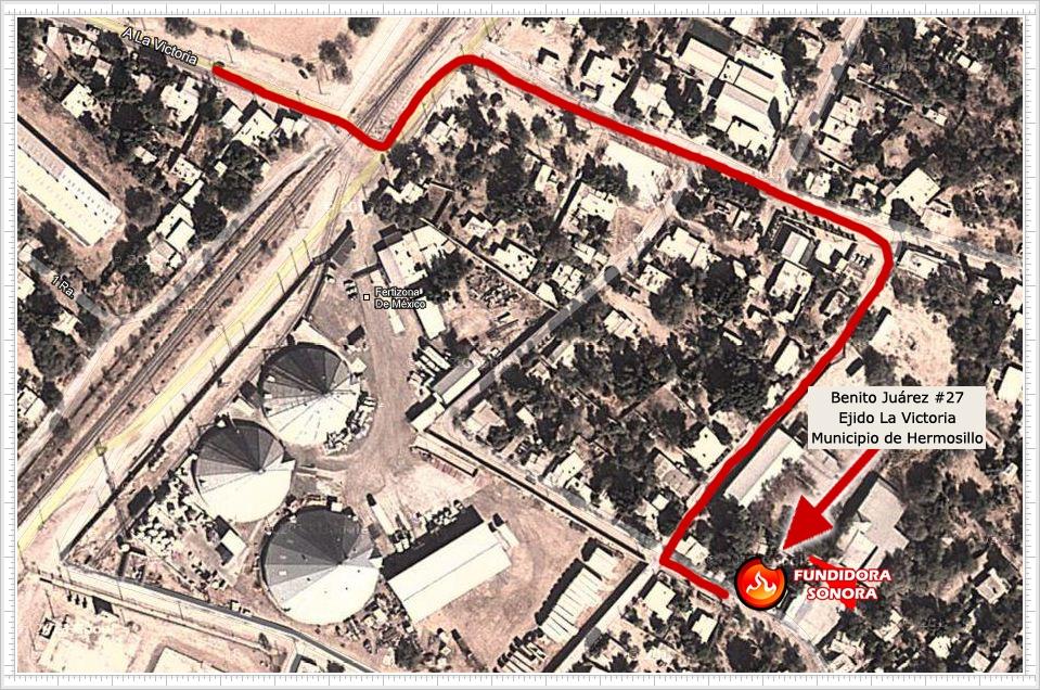 Mapa de ubicación - Fundidora Sonora