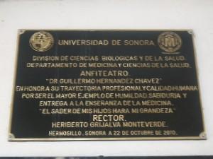Placa de la Universidad